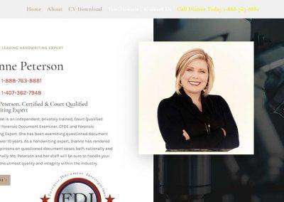 Dianne Peterson Handwriting Expert